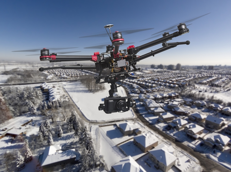 Drones provide a unique point of view in the construction industry.