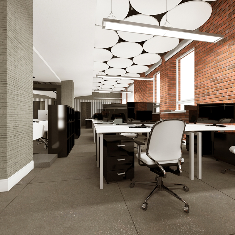 Productivity benefits from a range of open and private spaces.