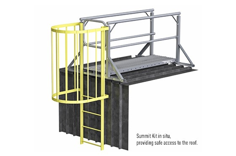 Our Summit Kit offers an immediate solution to the problem of roof access safety.