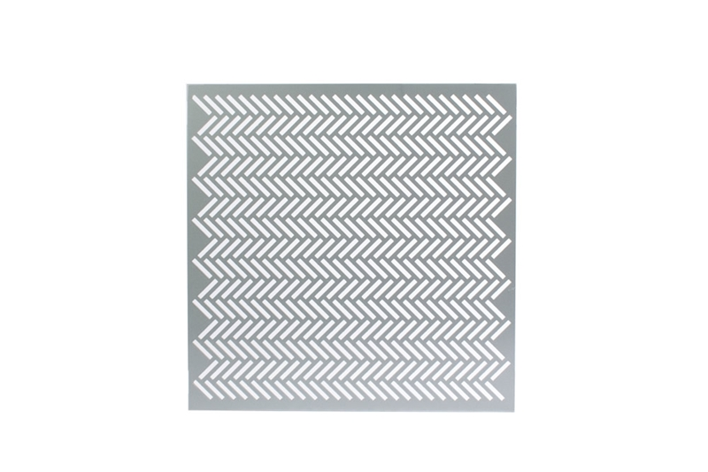 Perforated metal profile: Herringbone