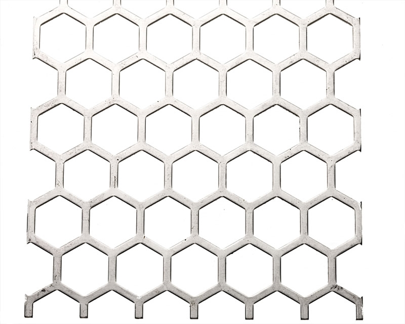Perforated metal profile: Sheer 2800 / Hexagon