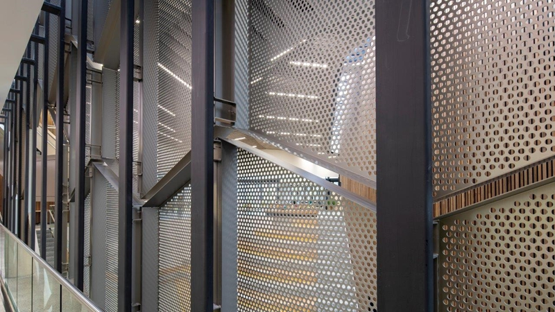 Perforated metal is cost effective and flexible for architects.