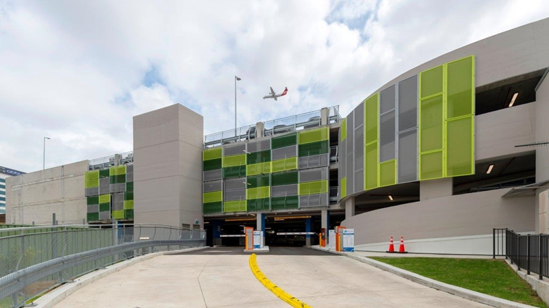 Locker Group's Clarity 800 perforated panels were used in the King Street Carpark.