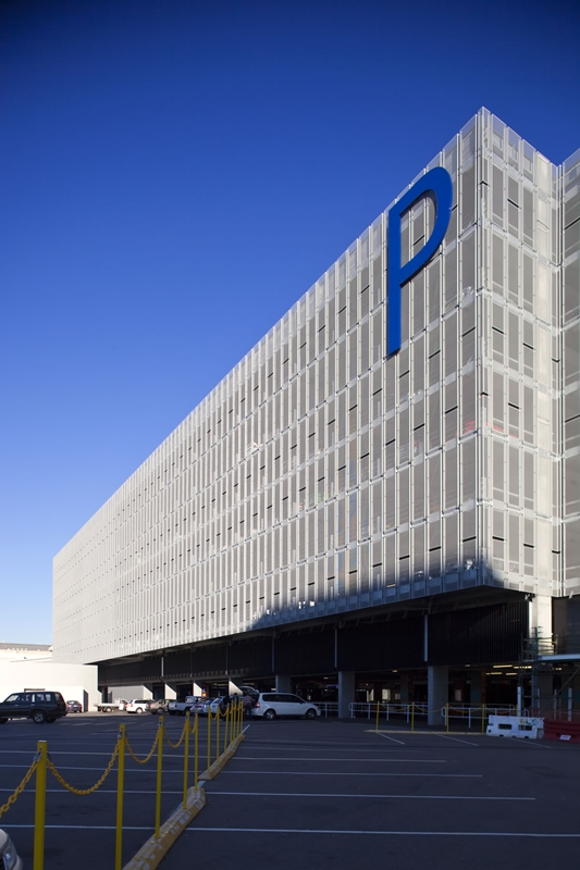 The front of the Sydney International Airport car park.